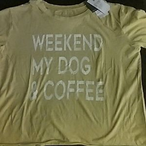 Weekend, my dog & coffee  small t